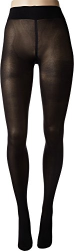 Wolford Women's Pearl Back Seam Tights Black/Pearl Large by Wolford