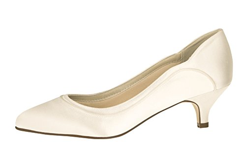 Ivory Satin Pumps Rainbow Brautschuhe Hollie Club Damen xIOw1