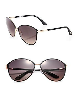 Tom Ford Tf 320 Penelope Black/Gold Frame/Gray Gradient Lens - Ford Sunglasses Tom