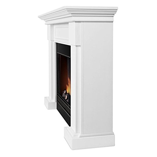 Real Flame Hillcrest Gel Fireplace White 7910-W