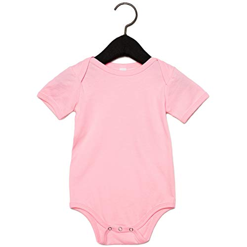 Bella + Canvas Baby Jersey Short Sleeve Onesie (12-18 Months) (Pink) ()