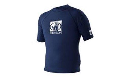 - Body Glove Men's Basic Short Arm Rashguard, Navy, X-Small