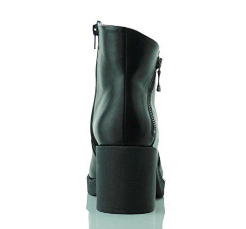 TOSCA BLU (Jade) Stivaletto Basic Pelle Zip Nero SF1610S200