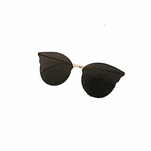 sol de Femenina de dorado Sol Gafas de Marino Película Amarillo Gafas marco Redonda Plano Gafas negra Sol de Masculina Liuxc y de Cara Espejo EqgYKWT
