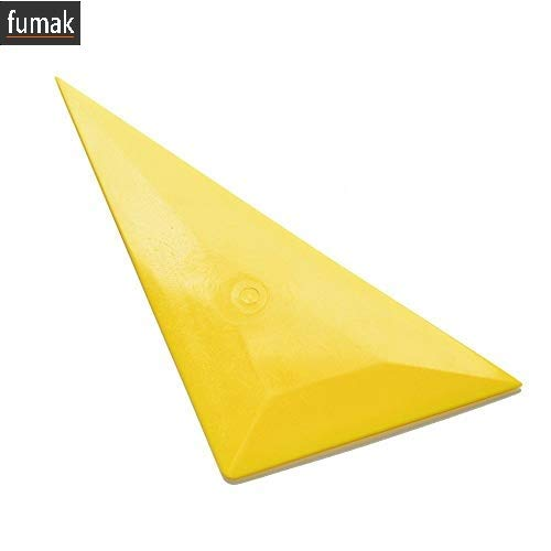 Fumak Triangle Bulge Squeegee ice Scraper Window Tint Tool Yellow Corner Car Clean Squeegee Vinyl Film car Wrap Sticker Tools