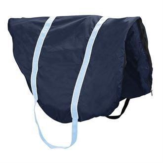 Dover Saddlery Fleece-Lined Saddle Case - Navy/White/Light Blue