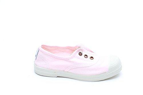 Natural World Zapatos DE Algodón Fondo Caucho 470541 Rosa rosa claro