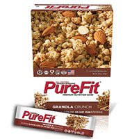 PureFit All Natural Nutrition Bar Granola Crunch, Granola Crunch 2 OZ(case of by PURE FIT