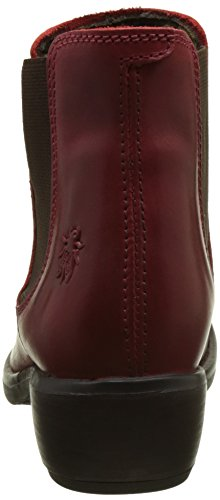 Mujer Rojo Red 024 London Chelsea Make para Fly Botas qpzXwxR