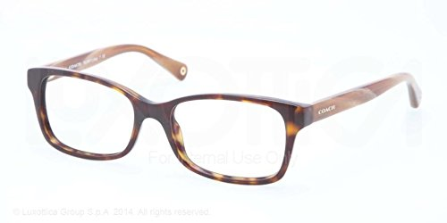 Coach Libby Eyeglasses HC6047 5204 Dark TortoiseLight Brown Horn Demo Lens 51 16 135