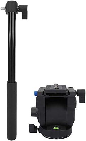 三脚雲台トップハンドル 落下防止 360°シングルハンドル クイックリリースプレート付き パノラマ油圧ボールヘッド サスペンショ