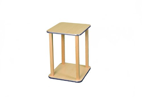Wild Zoo Furniture CPU and Printer Stand, Maple/Blue