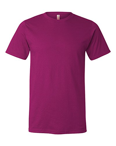 Anvil Organic Ringspun/Recycled Polyester T-Shirt, Small, Raspberry