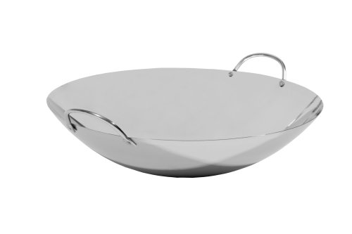 Town Food Service 14 Inch Stainlees Steel Cantonese Wok (Non-Cook)