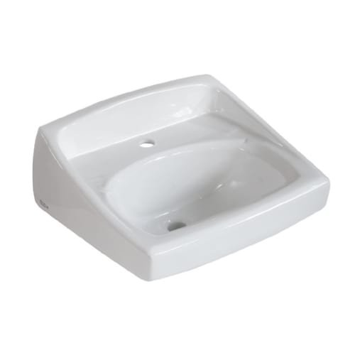 Exposed Bracket Support (American Standard 0356.041.020 Lucerne Wall-Mount Lavatory Sink with Center Faucet Hole for Exposed Bracket Support,)