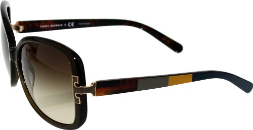 Tory Burch Sunglasses - TY7022 / Frame: Olive Block Lens: Brown - Tori Sunglasses Burch