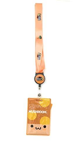 Maplestory Orange Mushroom Keychain Lanyard Cardholder