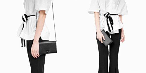 ZPFME Womens Messenger Bag Cadena Retro Moda Ladies Travel Campus Hombro Bolsa De Compras Black