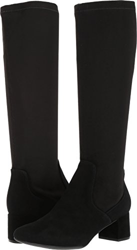 Clarks Women's Tealia Cup Riding Boot, Black Suede, 8.5 M US