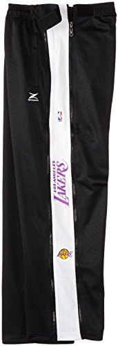 Lakers Warm Up Pants (Los Angeles Lakers NBA Team Panel Pant With Zipway Shell (Medium))