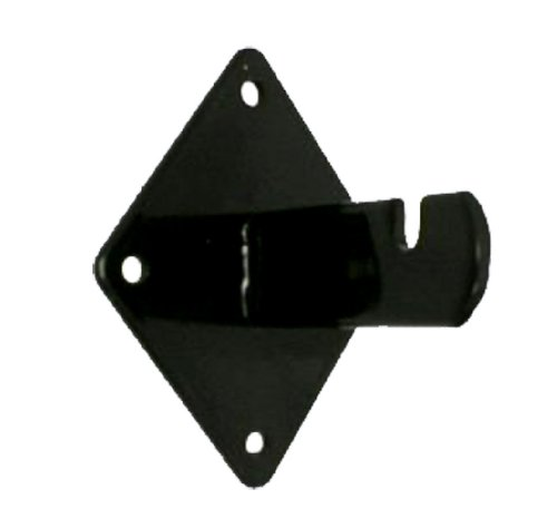Gridwall Bracket (Wall Bracket for Gridwall - Use to Mount Wire Grid to Wall BLACK Lot of 50 NEW)