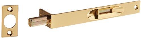 Baldwin Estate 0626.030 Solid Brass Residential Flush Bolt in Polished Brass, 6