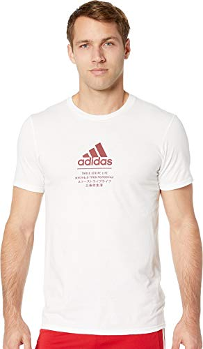adidas Athletics Badge of Sport International T-Shirt, White, Large