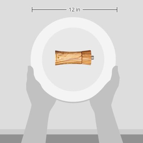 1-Pack LOHAS Home Moulin /à /Épices Poivre Verre /Épais Noir Sali/ères et Poivri/ères Broyeur manuel Pour Cuisine Repas Plat Table