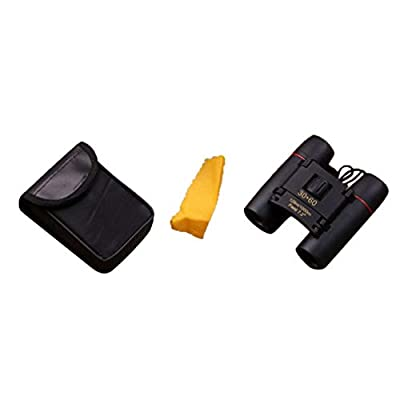 Small Folding Binoculars Mini Binoculars 30X60 HD Wide Angle Portable Low Light Level Night Vision Pocket Binoculars