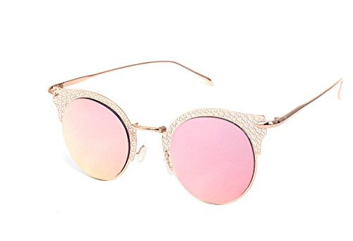 Moda Gold Frame Gafas sol de callejeros sol pink de C2 mujer mano talladas Gafas Disparos MAIDIS a w6OYqx60