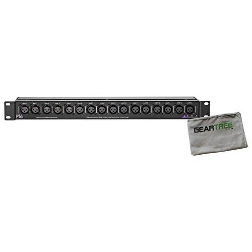 (ART P16 Sixteen Channel XLR Balanced Patch Bay 1U w/ Microfiber Geartree Cloth )