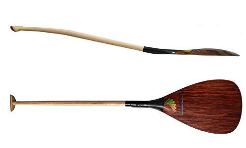 ZJ Sport Single Bent Wood Veneer Carbon Outrigger Canoe Paddle (52'')