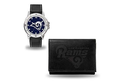 LA RAMS Black Watch and Wallet ()