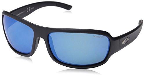 Smith Optics Elite Drop Sunglass with Matte Black Frame and Chromapop Polar Blue Mirror Lenses by Smith Optics Elite