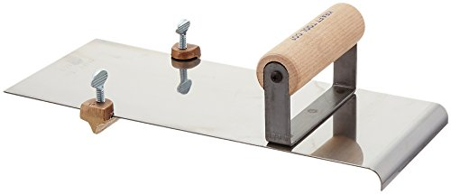Kraft Tool CF607 Stainless Steel Edger with Adjustable Groover 3/8-Inch -Radius by Kraft Tool
