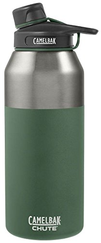 Steel Chute - CamelBak Chute Vacuum Insulated Stainless Water Bottle, 40 oz, Evergreen