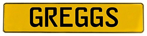 - Vintage Parts 652827 Yellow Stamped Aluminum Street Sign Mancave Wall Art (Greggs)