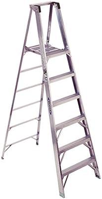 Werner P376 kg Deber calificación aluminio plataforma escalera, 2,4 metros: Amazon.es: Bricolaje y herramientas