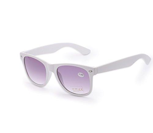 de Mujer 1 de de 4sold lectores nbsp;marrón UV400 gafas para Blanco hombre carey nbsp;fuerza lectura Reader Estilo 4sold UV gafas 5 sol sol marca Unisex Iz6p0nwpq