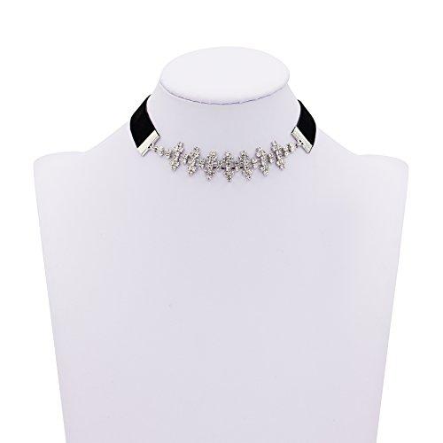 Zealmer Diamond Zirconia Necklace Leather