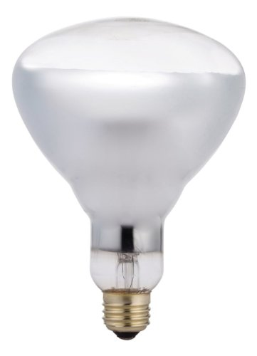 Philips 416750 Heat Lamp 125-Watt BR40 Clear Flood Light Bulb 250w Br40 Heat Lamp