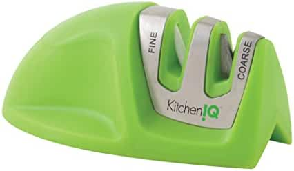 KitchenIQ 50881 Edge Grip 2-Stage Knife Sharpener, Green