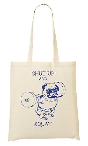 Shut Says Sac Provisions Muscular Squat Up Pug Cool Tout Fourre À Sac CP Funny wOtZPq