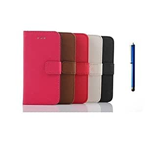 HC- Caso de cuero cartera patrón de cruz de 5.5 pulgadas y una pluma para el iphone 6 más (colores surtidos) , Rose