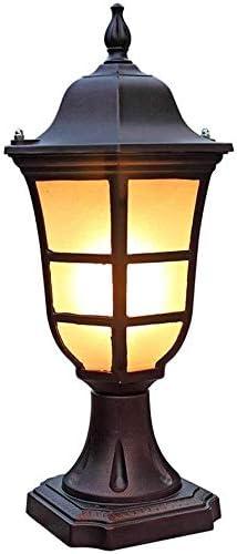 J-Farola De Exterior Luz Del Pilar Calle poste de luz Jardín Columna de la lámpara