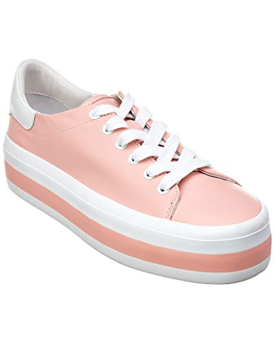 alice + olivia Ezra Leather Sneaker, 9.5, Pink