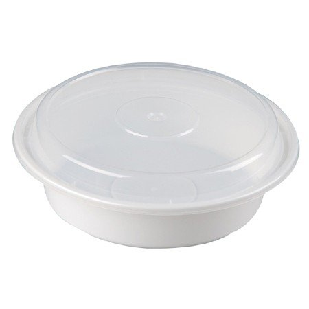 [Reusable Microwaveable Food Storage Containers - Pack of 20 Stackable Bento Lunch Boxes with Lids, Freezer and Dishwasher Safe - 24oz Round - White -By] (Easy But Cute Halloween Treats)