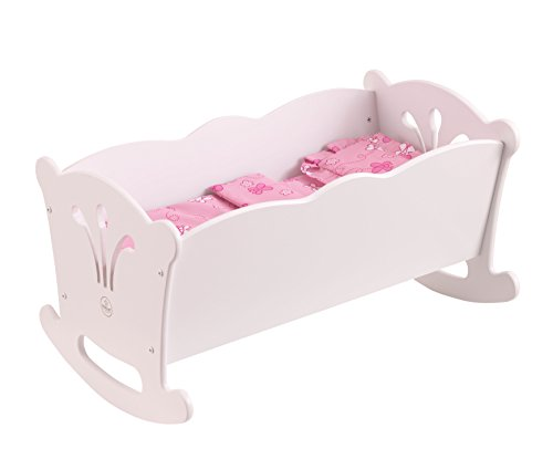 KidKraft Lil' Doll Cradle (Wood Doll Bed)