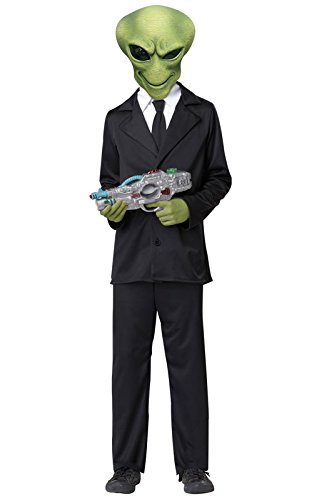 [California Costumes Alien Agent Child Costume, Medium] (Secret Agent Halloween Costume For Kids)