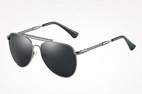 Sunglasses Gafas TL de sol UV400 masculina gray Gafas gray azul de Hombre gafas Guía ACCESORIOS plata Mujer sol polarizados con para alta calidad qS55drgx